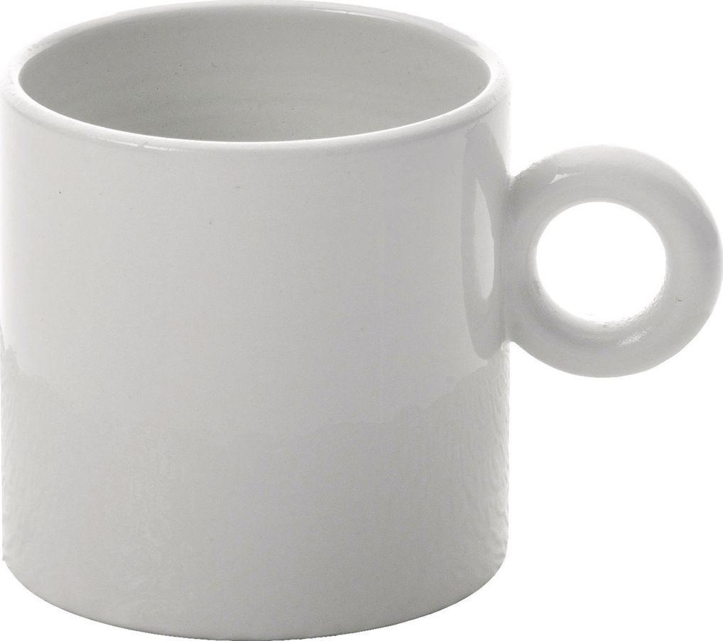 Alessi ALESSI | DRESSED Zestaw 4 szt Filiżanek do kawy z białej porcelany z reliefem 70 ml 1