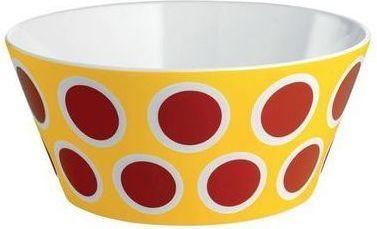 Alessi Miska Circus z porcelany żółta czerwone kropki średnica 16cm (8003299404995) 1