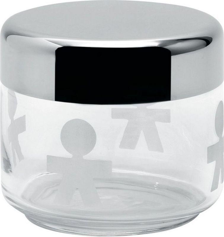 Alessi Słoik szklany z hermetyczną stalową pokrywką 0,5l 1