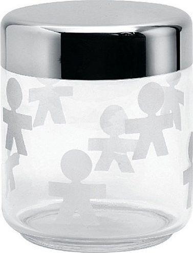 Alessi Słoik szklany z hermetyczną stalową pokrywką 0,75l 1