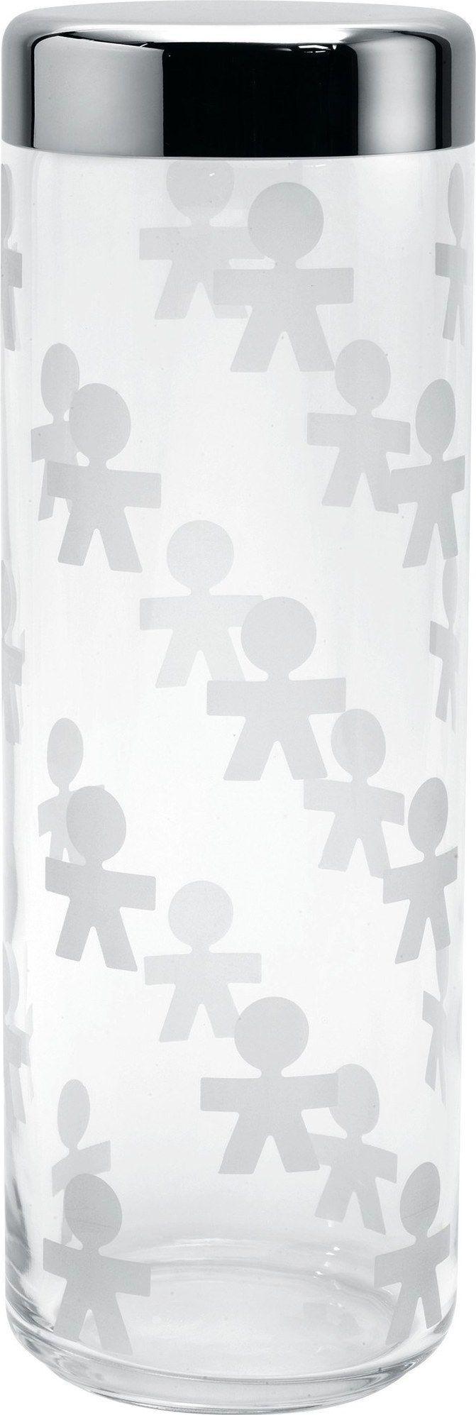 Alessi Słoik szklany z hermetyczną stalową pokrywką 2,25l 1