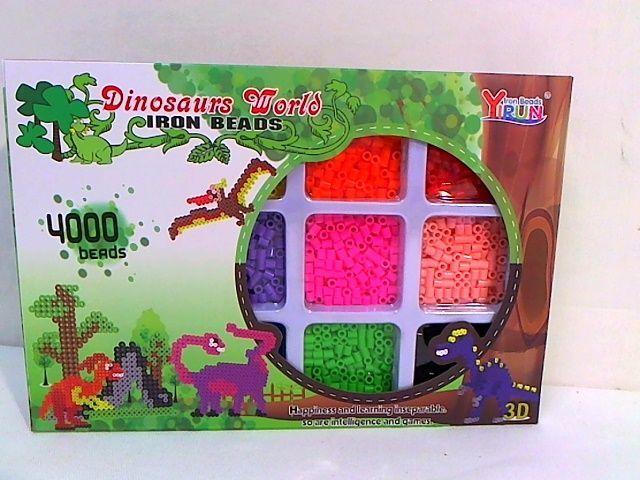 Hipo Koraliki do zgrzewania Dinozaury 4000 sztuk 3D w pudełku 1