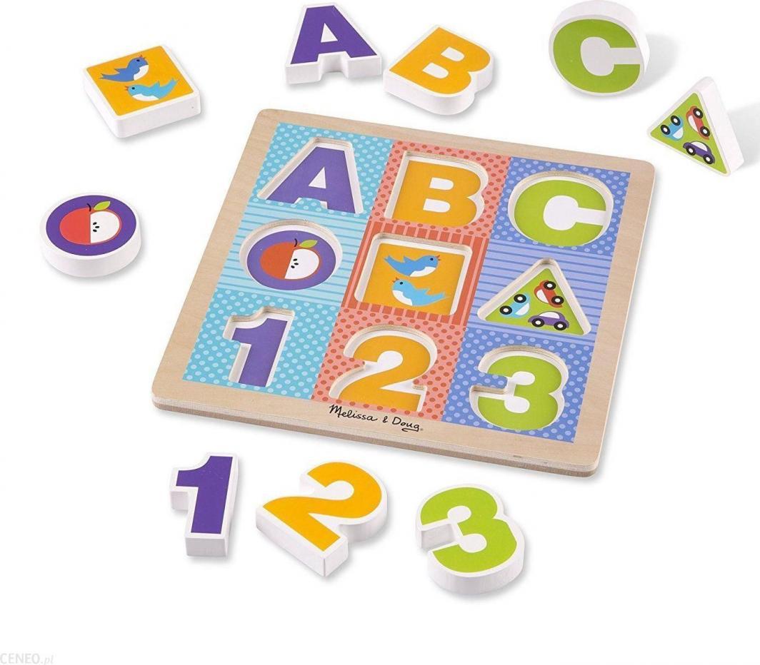 Melissa & Doug MELISSA Ogromne puzzle drewniane ABC 11899 1