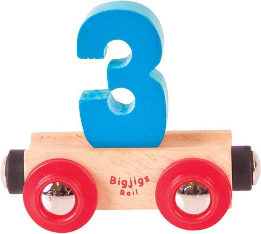 BigJigs Wagonik cyferka 3 1