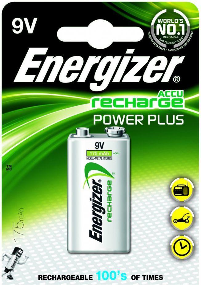 Energizer Akumulator Power Plus 9V Block 175mAh 1szt. 1