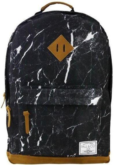 Incood Plecak dwukomorowy czarny Marmur ID produktu: 4802112
