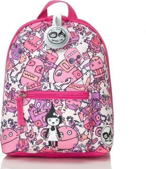 Zip & Zoe Zip & Zoe Plecak Mini ze Smyczą Robot Pink 1