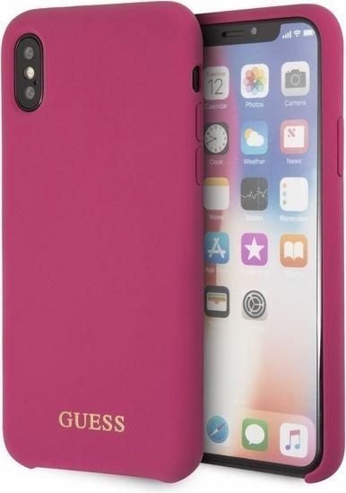 Guess Etui do iPhone X różowy (GUHCPXLSGLPI) 1