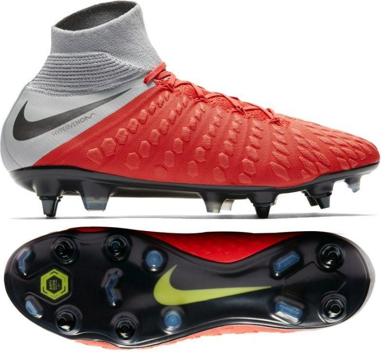 fa11806221355 Nike Buty piłkarskie Hypervenom 3 Elite DF SG PRO AC czerwono-szare r. 46  (AJ3812 600) w Sklep-presto.pl