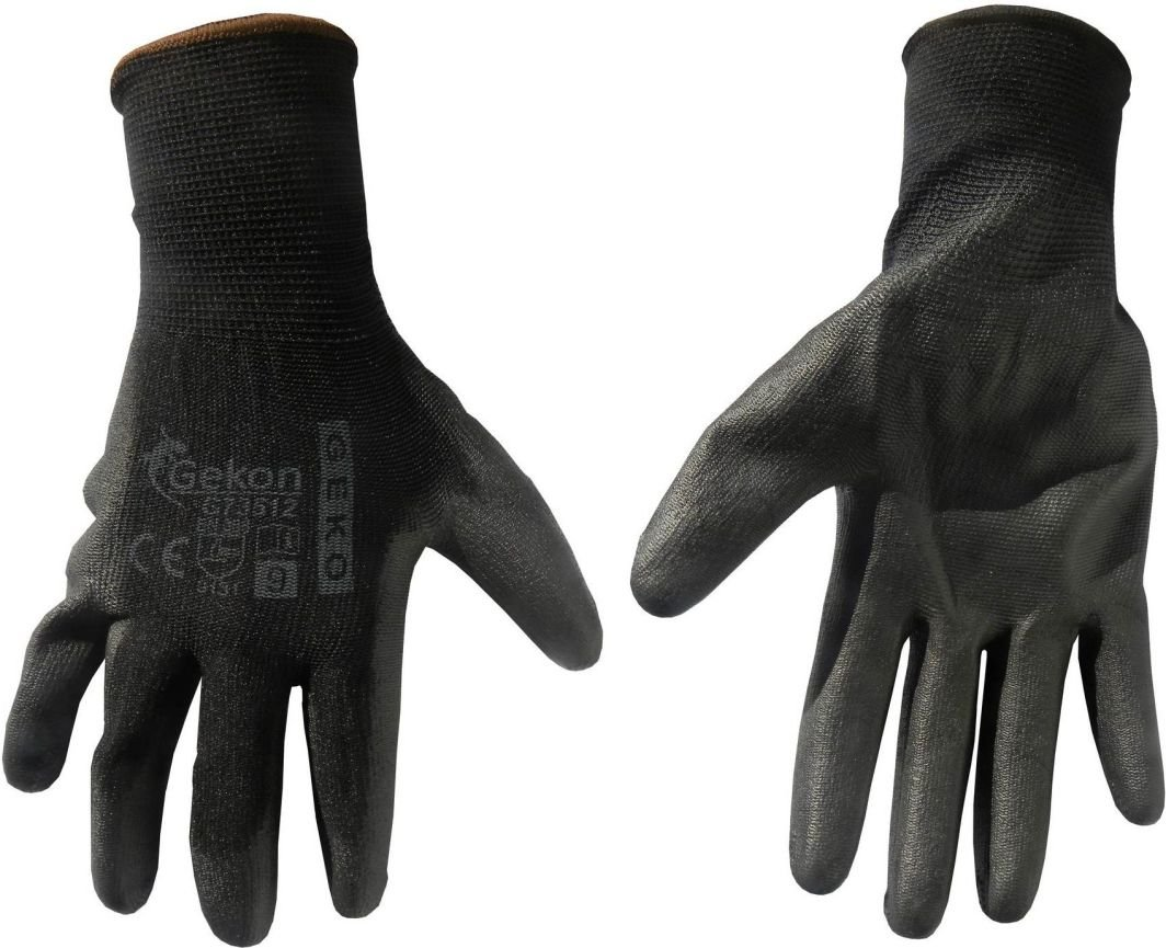 Geko Rękawice ochronne GEKO r.9/czarne/(12/300) 1