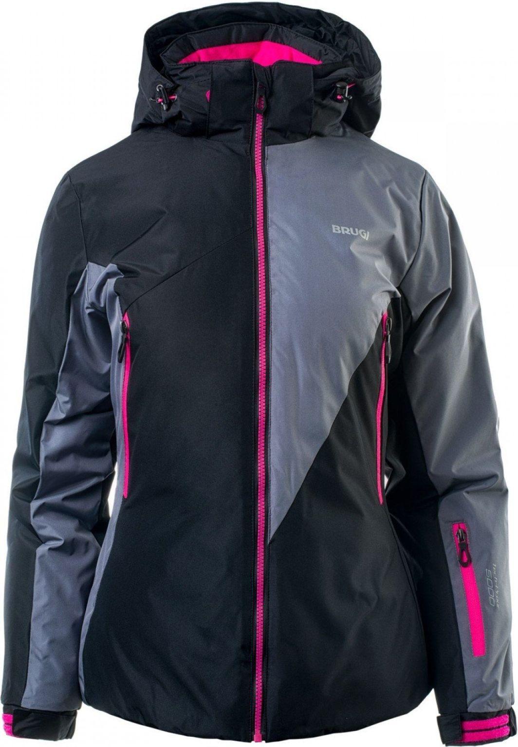 brugi kurtka narciarska czarna damska