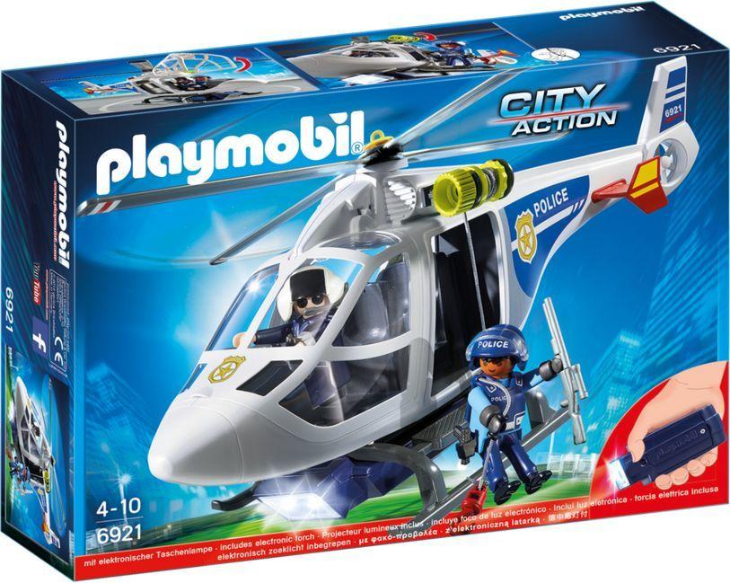 Playmobil Helikopter policyjny z reflektorem LED (6921) 1