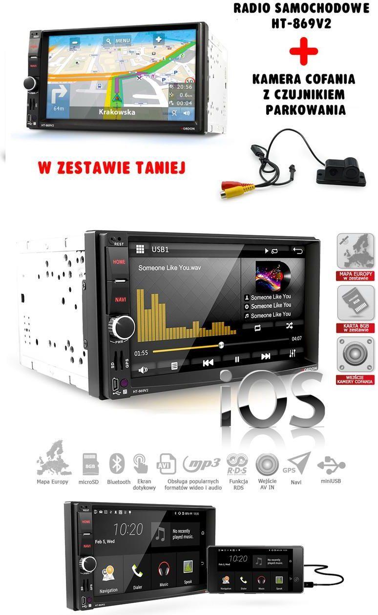 Radio samochodowe Vordon Zestaw radio Vordon HT-869V2 ( micro) + CP2IN1 1