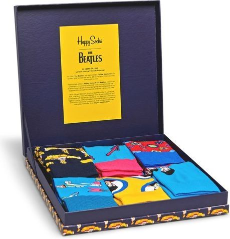 "Happy Socks Skarpetki The Beatles Gift Box (6-par) ""50th Anniversary"" r. 36-40 1"