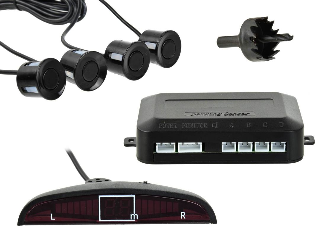 Geko Czujnik parkowania - cofania z wyświetlaczem + 4 sensory (40) 1