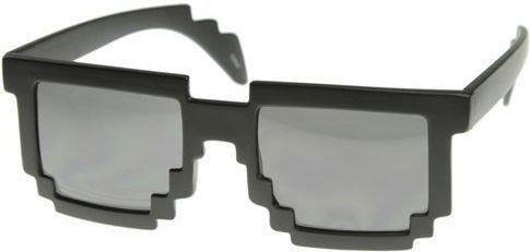 GiftWorld Pikselowe okulary 8 bit pixel - czarne 1