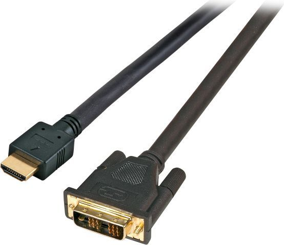 Kabel EFB HDMI - DVI-D 1m czarny (K5432.1) 1