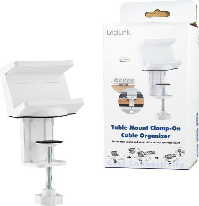 Organizer LogiLink LOGILINK - Organizer kablowy do montażu na stole 1