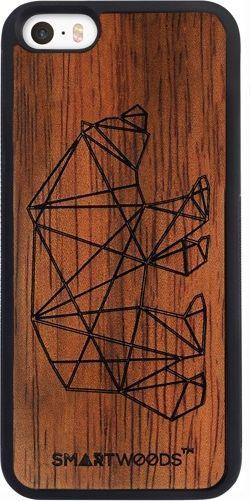 SmartWoods Case Etui Drewniane Bear Active Iphone 5 5S Se 1
