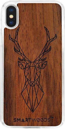 SmartWoods Case Etui Drewniane Deer Clear Iphone X 1