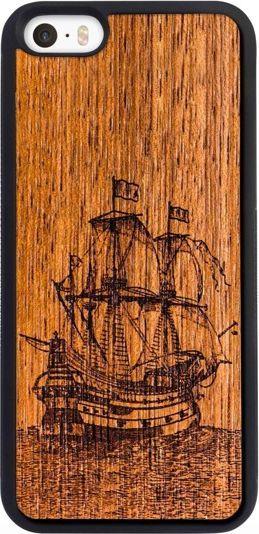 SmartWoods Case Etui Drewniane Galleon Active Iphone 5 5S Se 1