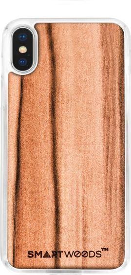 SmartWoods Case Etui Drewniane Jabłoń Clear Iphone X 1