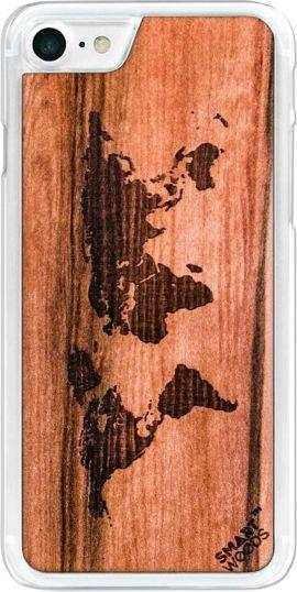 SmartWoods Case Etui Drewniane Mapa Clear Iphone 7 8 1