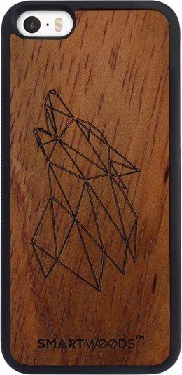 SmartWoods Case Etui Drewniane Wolf Active Iphone 5 5S Se 1