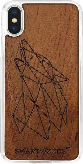 SmartWoods Case Etui Drewniane Wolf Clear Iphone X 1