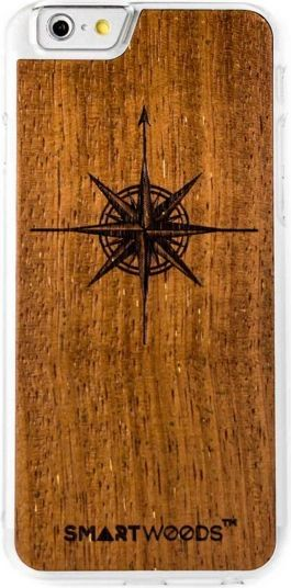 SmartWoods Wood Case Etui Drewniane Róża Clear Iphone 6 6S 1