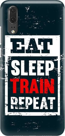 FunnyCase FUNNY CASE ETUI NADRUK EAT SLEEP TRAIN HUAWEI P20 1