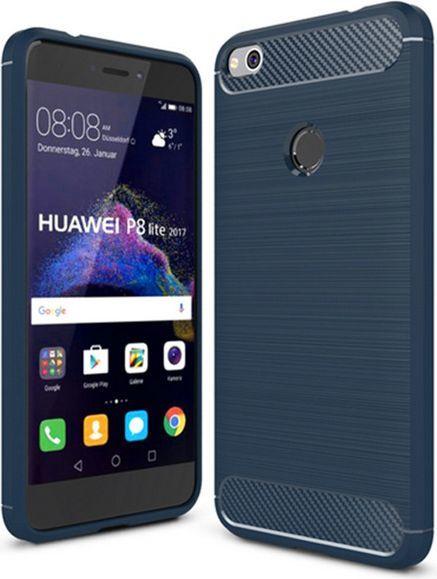GSM City CASE ETUI CARBON LUX NIEBIESKI HUAWEI P8 P9 LITE 2017 1