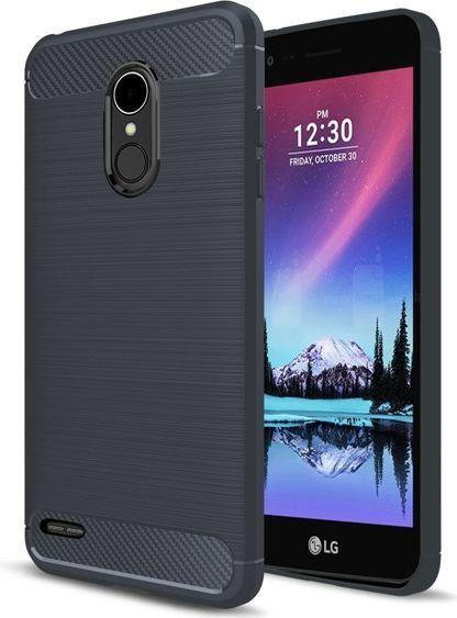 GSM City CASE ETUI CARBON LUX NIEBIESKI LG K10 2017 1