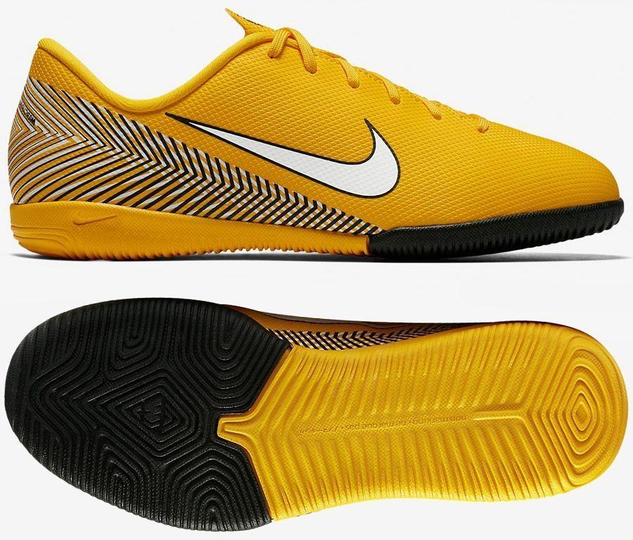 Buty piłkarskie halowe Mercurial Vapor XII Academy IC Nike (szaro żółte)