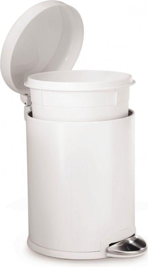 Kosz na śmieci Simplehuman na pedał 3L biały (CW1856CB) 1