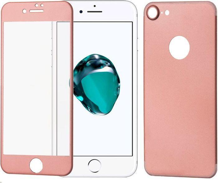 Wozinsky Szkło hartowane iPhone 7 WOZINSKY osłona na cały ekran z aluminiową nakładką na tył różowy 1