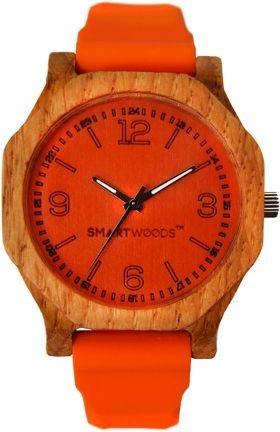 Zegarek SmartWoods Drewniany Hexa Dąb Orange 1
