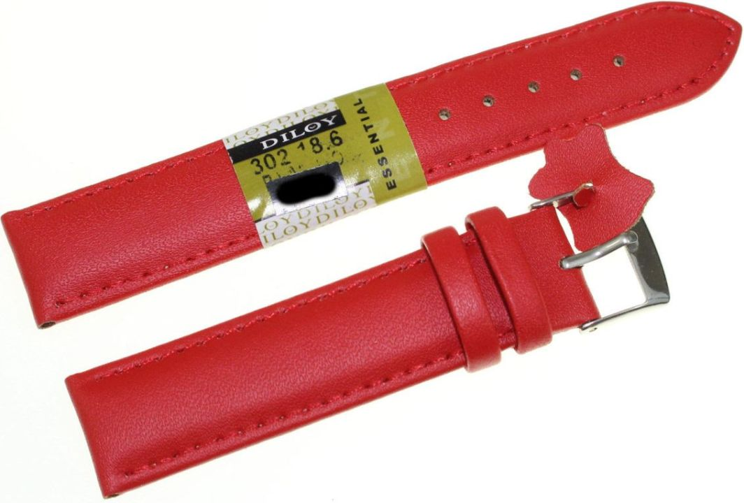 Diloy Skórzany pasek do zegarka 18 mm Diloy 302.18.6 1