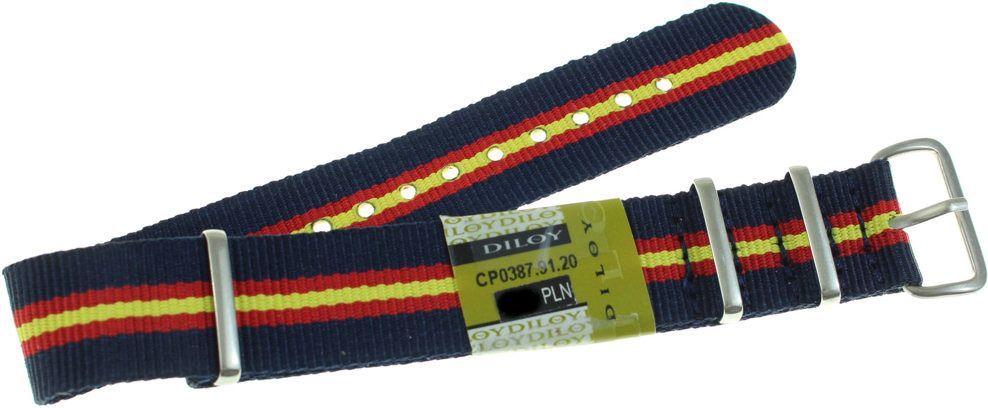 Diloy Nylonowy pasek do zegarka 20 mm Diloy 387.20.91 1