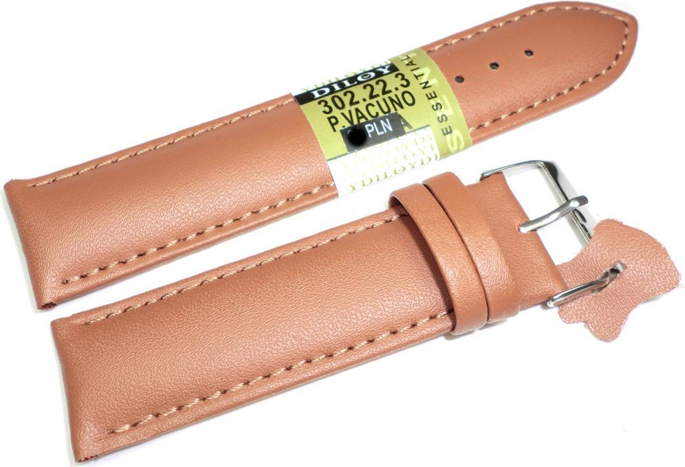 Diloy Skórzany pasek do zegarka 22 mm Diloy 302.22.3 1