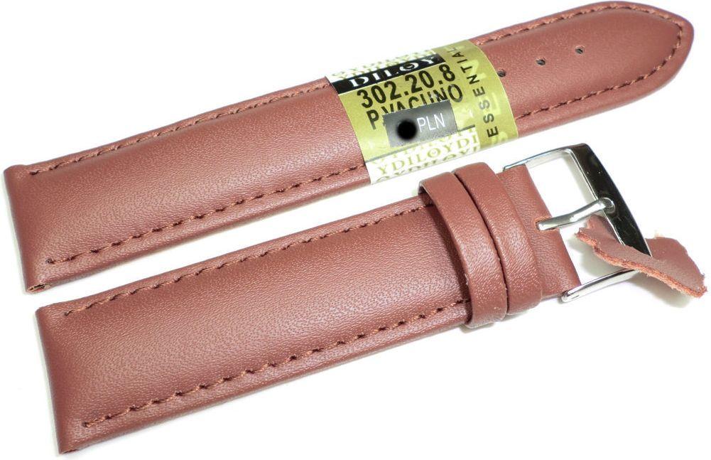 Diloy Skórzany pasek do zegarka 20 mm Diloy 302.20.8 1