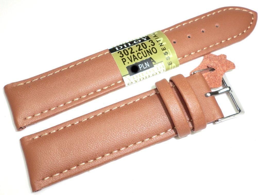 Diloy Skórzany pasek do zegarka 20 mm Diloy 302.20.3 1