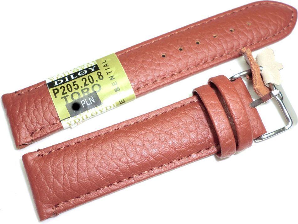 Diloy Skórzany pasek do zegarka 20 mm Diloy P205.20.8 1
