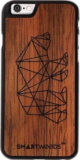 SmartWoods Case Etui Drewniane Bear Mat Iphone 6 6S 1