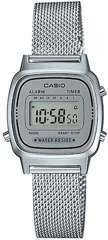 Zegarek Casio Damski Retro LA670WEM-7EF srebrny 1