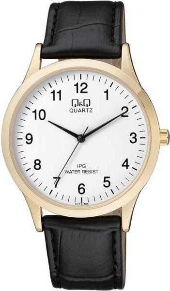 Zegarek Q&Q Męski C212-104 Klasyczny Slim czarny 1