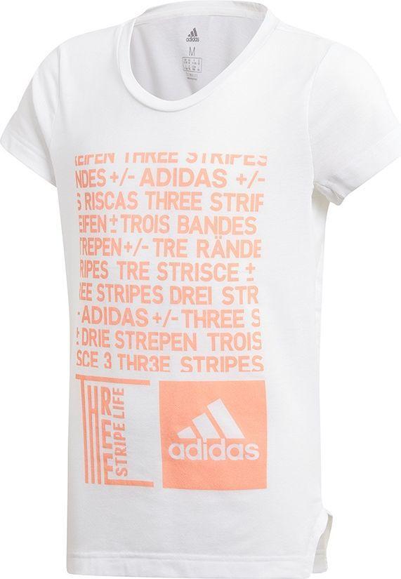 Adidas Koszulka dziecięca YG TR Graph Tee biała r. 170 cm (DJ1061) ID produktu: 4897898