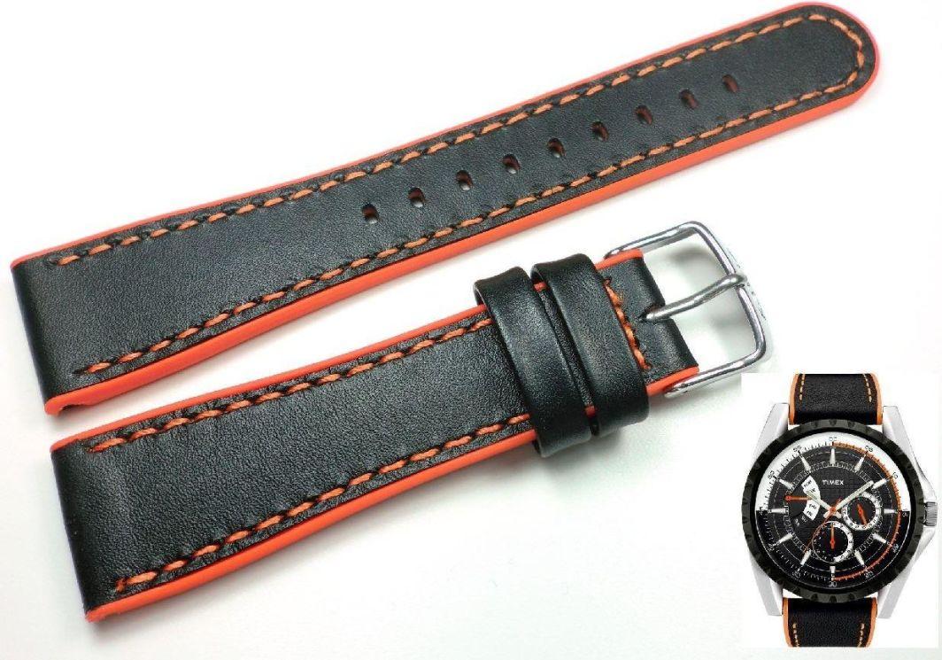 Timex Pasek do zegarka Timex T2M428 P2M428 22 mm Skóra-silikon 1