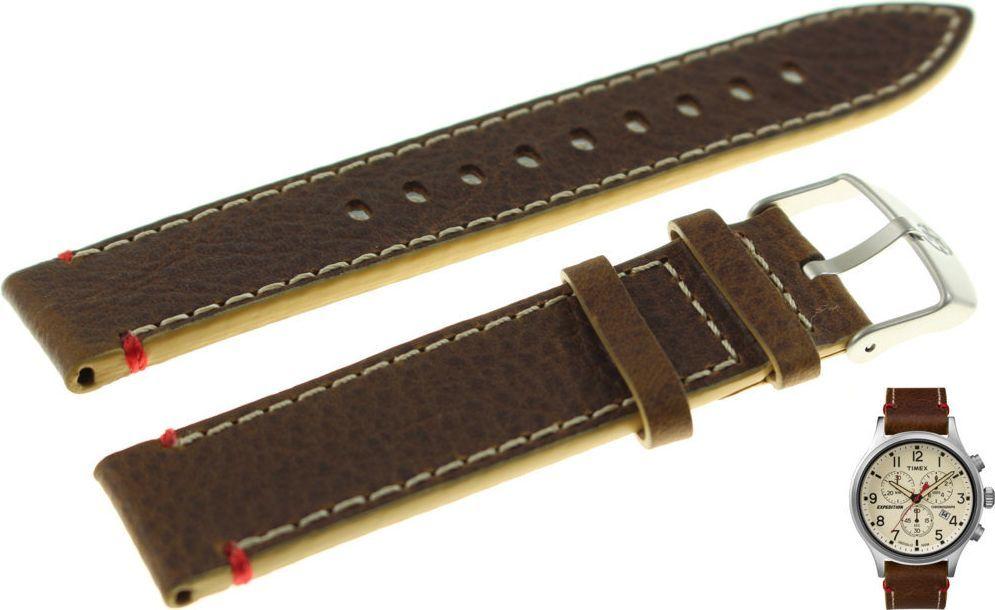 Timex Pasek do zegarka Timex TW4B04300 PW4B04300 20 mm Skóra 1