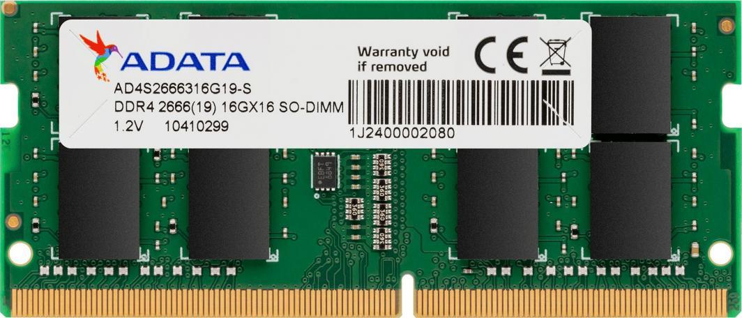 Pamięć do laptopa ADATA DDR4 SODIMM 4GB 2666MHz CL19 (AD4S2666J4G19-S) 1